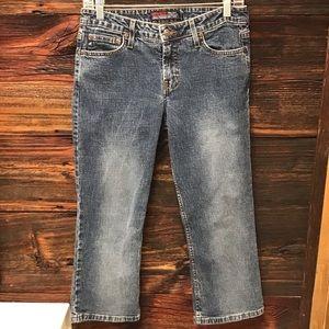 Aeropostale Blue Jean Capris Cropped Pant SZ 7/8